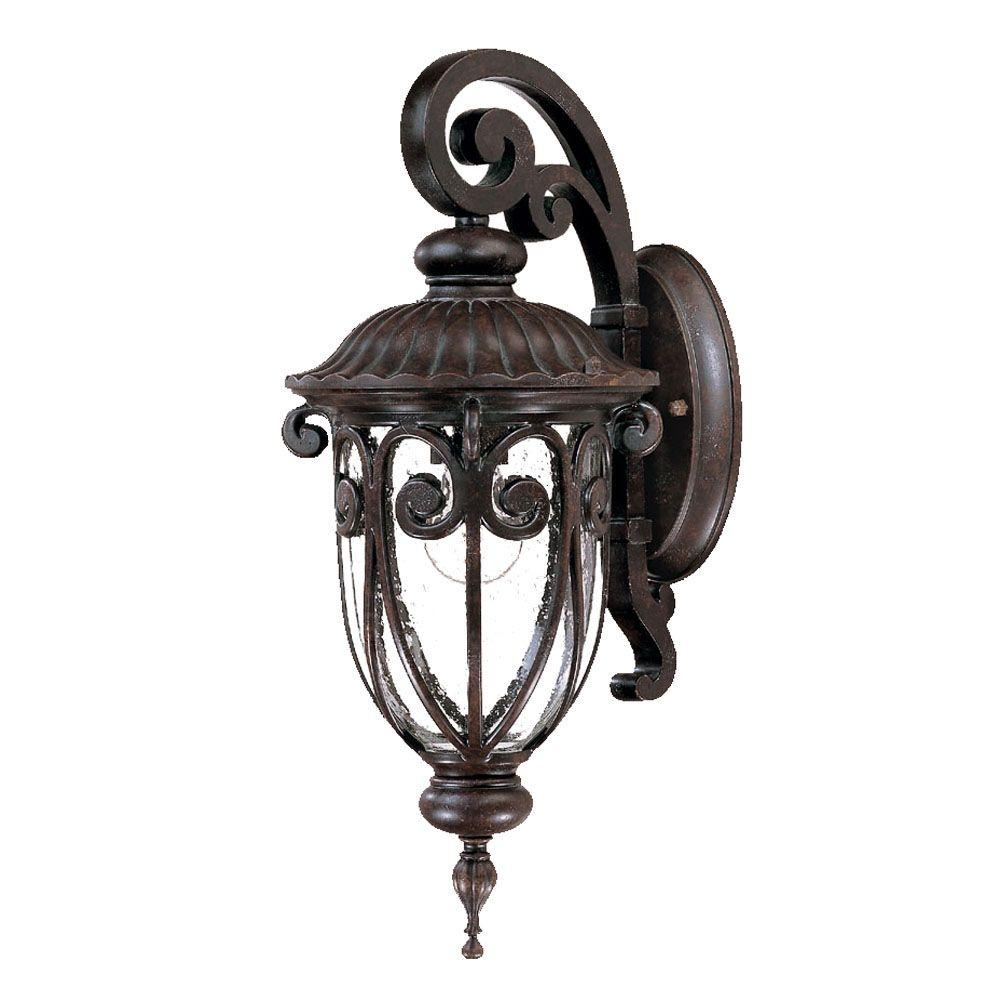 Acclaim Lighting Naples Collection 3 Light Matte Black Outdoor Wall Mount Fixture 2122bk The Home Depot