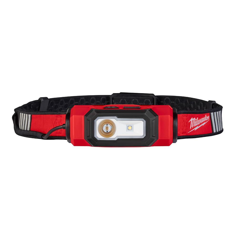 Milwaukee 600 Lumens LED USB Rechargeable 360-Degree Visibility Hard Hat Headlamp