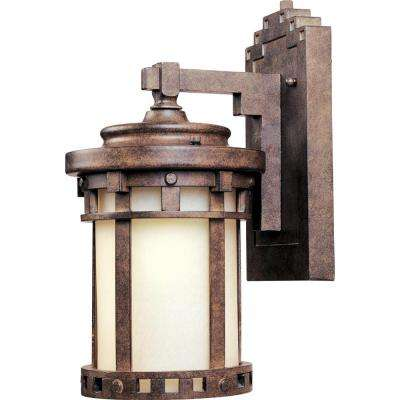 Santa Barbara EE 1-Light Sienna Outdoor Wall Sconce