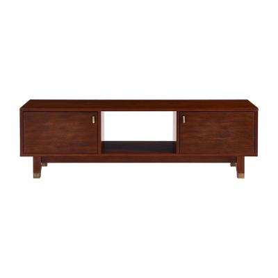 Isabell 60 in. Dark Tobacco Engineered Wood TV Stand Fits TVs Up to 58 in.
