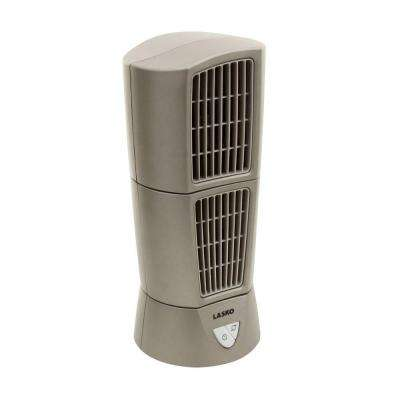 Desktop Wind Tower Fan in Platinum