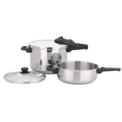 Splendid 3-Piece Stainless Steel Cookware Set with Lids