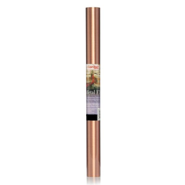 Metal FX 18 in. x 6 ft. Faux Brushed Copper Self-Adhesive Drawer and Shelf Liner (6 Rolls)