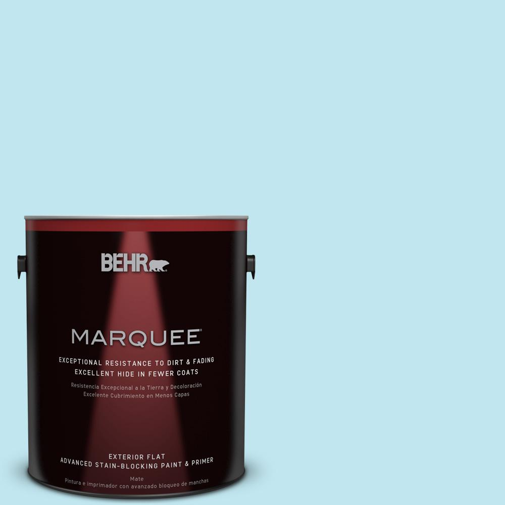 BEHR MARQUEE 1-gal. #520A-2 Ice Flower Flat Exterior Paint