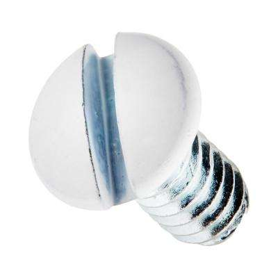 5/16 in. Long 6-32 Thread Replacement Wallplate Screws, White