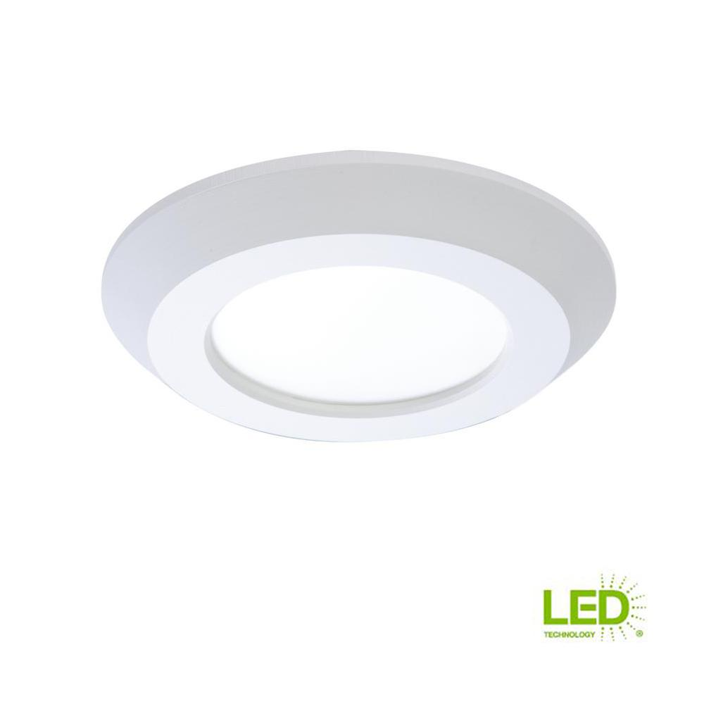 Halo Sld 4 In White Integrated Led Recessed Retrofit Ceiling Mount Light Fixture With 90