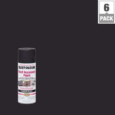 12 oz. Carbon Black Roof Accessory Spray Paint (6-Pack)