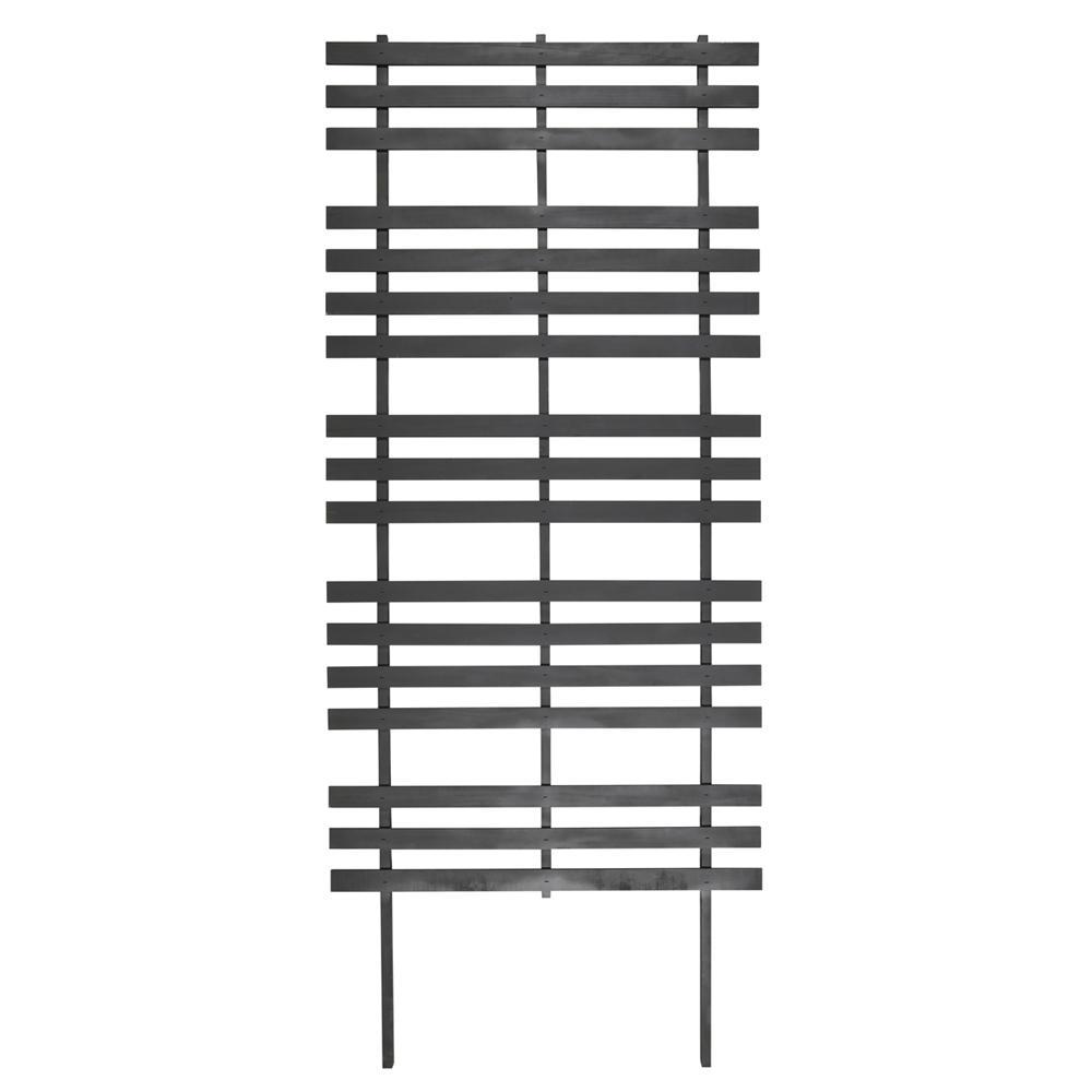 Outdoor Essentials 72 in. Wood Modern Ladder Trellis