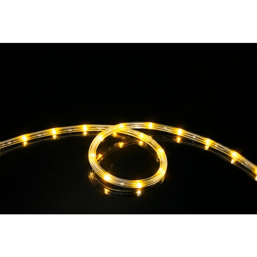 Meilo 16 ft yellow all occasion indoor outdoor led rope light 360 meilo 16 ft yellow all occasion indoor outdoor led rope light 360 directional shine aloadofball Gallery