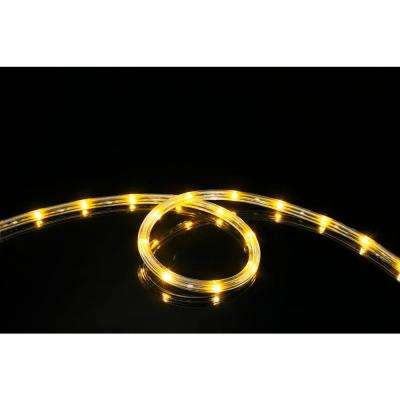 16 ft. Yellow All Occasion Indoor Outdoor LED Rope Light 360° Directional Shine Decoration (2-Pack, 32 ft. Total)