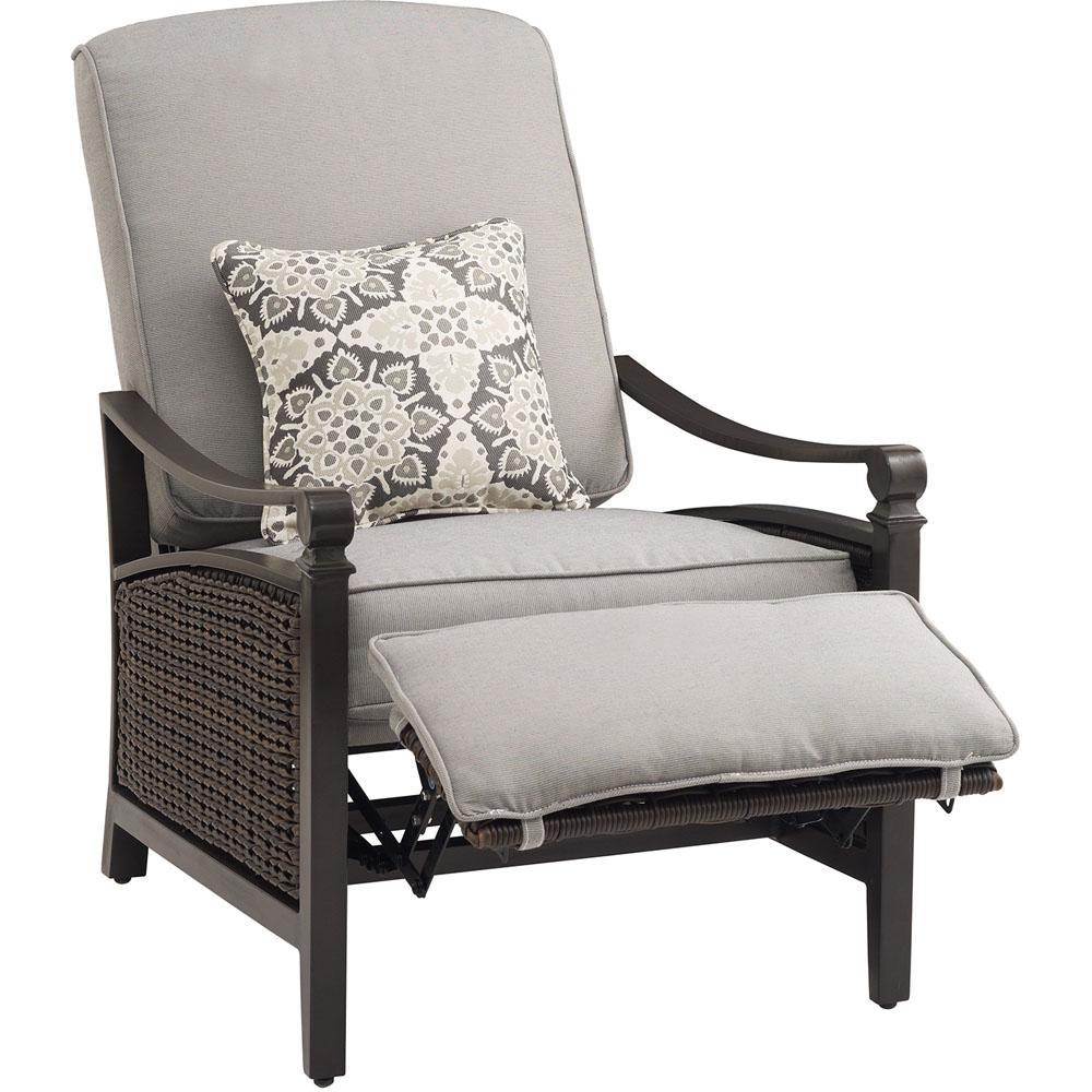 La z boy carson chestnut and espresso all weather wicker for Boys lounge chair