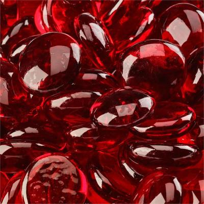 10 lbs. Ruby Fire Glass Beads for Indoor and Outdoor Fire Pits or Fireplaces