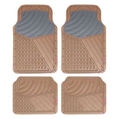 Beige All Weather 4-Piece 28.5 in. x 18.5 in. Journeyman Class PVC Car Mat
