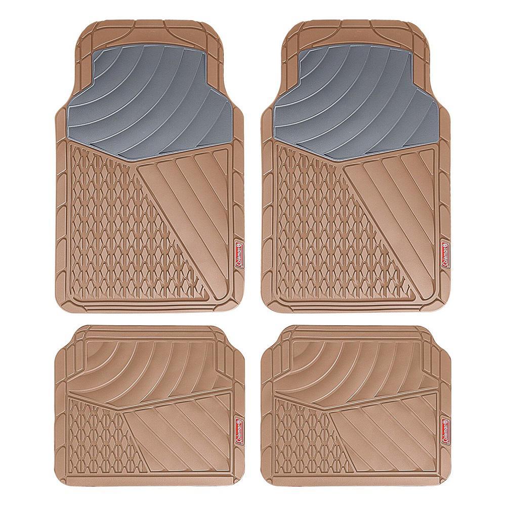 Beige All Weather 4-Piece 28.5 in. x 18.5 in. Journeyman Class PVC Car Mat