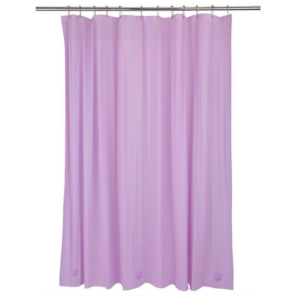 Bath Bliss Heavy Grommet Shower Liner in Lilac
