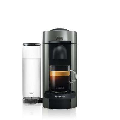 Vertuo Plus Single Serve Coffee and Espresso Machine by De'Longhi in Grey