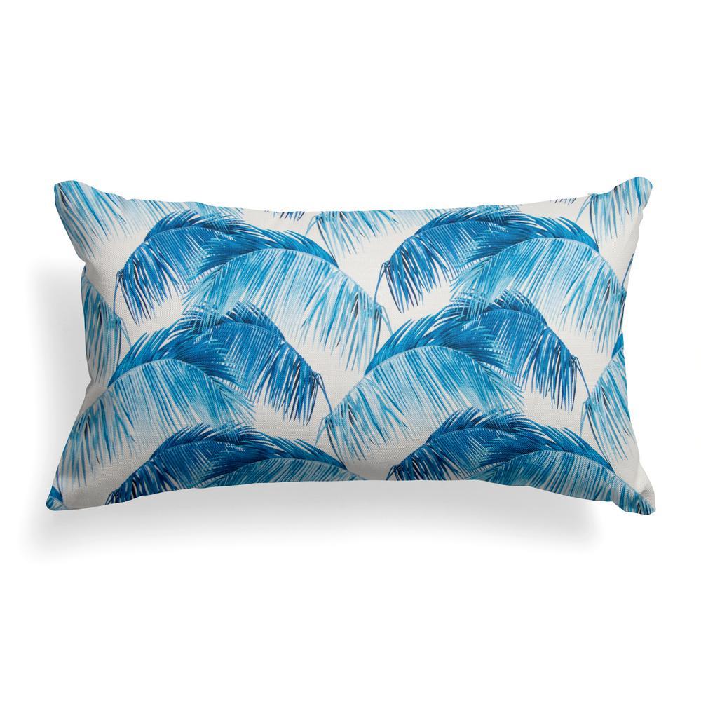 Tahitian Navy Rectangular Lumbar Outdoor Pillow
