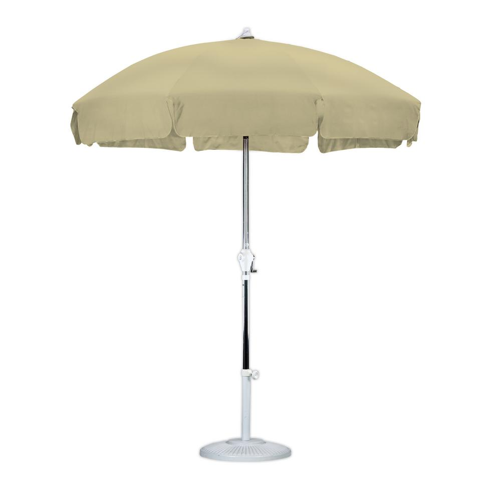 7-1/2 ft. Anodized Aluminum Push Tilt Patio Umbrella in Antique Beige