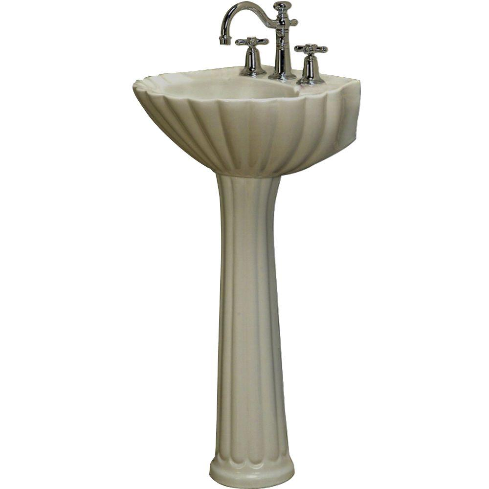 Elegant Pegasus Bali 19 In. Pedestal Combo Bathroom Sink In Bisque