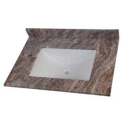 31 in. W Stone Effects Vanity Top in Cold Fusion