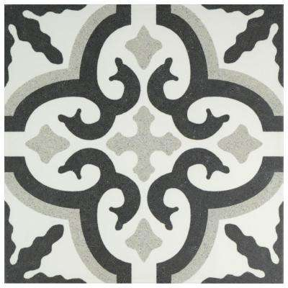Jaen Encaustic 9-3/4 in. x 9-3/4 in. Porcelain Floor and Wall Tile (10.76 sq. ft. / case)