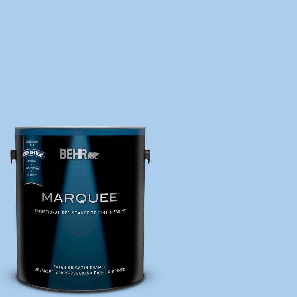 Behr Marquee 1 Gal P520 2 French Porcelain Satin Enamel Exterior Paint And Primer In One