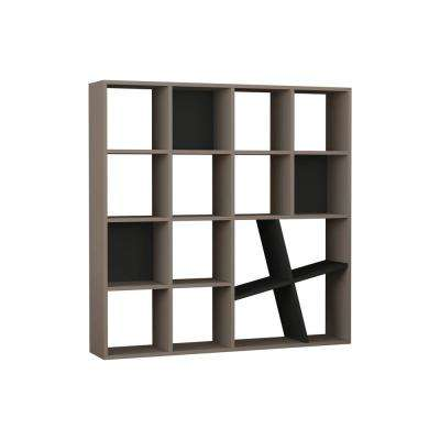 Brian Light Mocha and Anthracite Mid-Century Modern Bookcase
