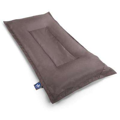 Stratus Mattress Bean Bag Swimming Pool Float in Mocha, Nylon Fabric