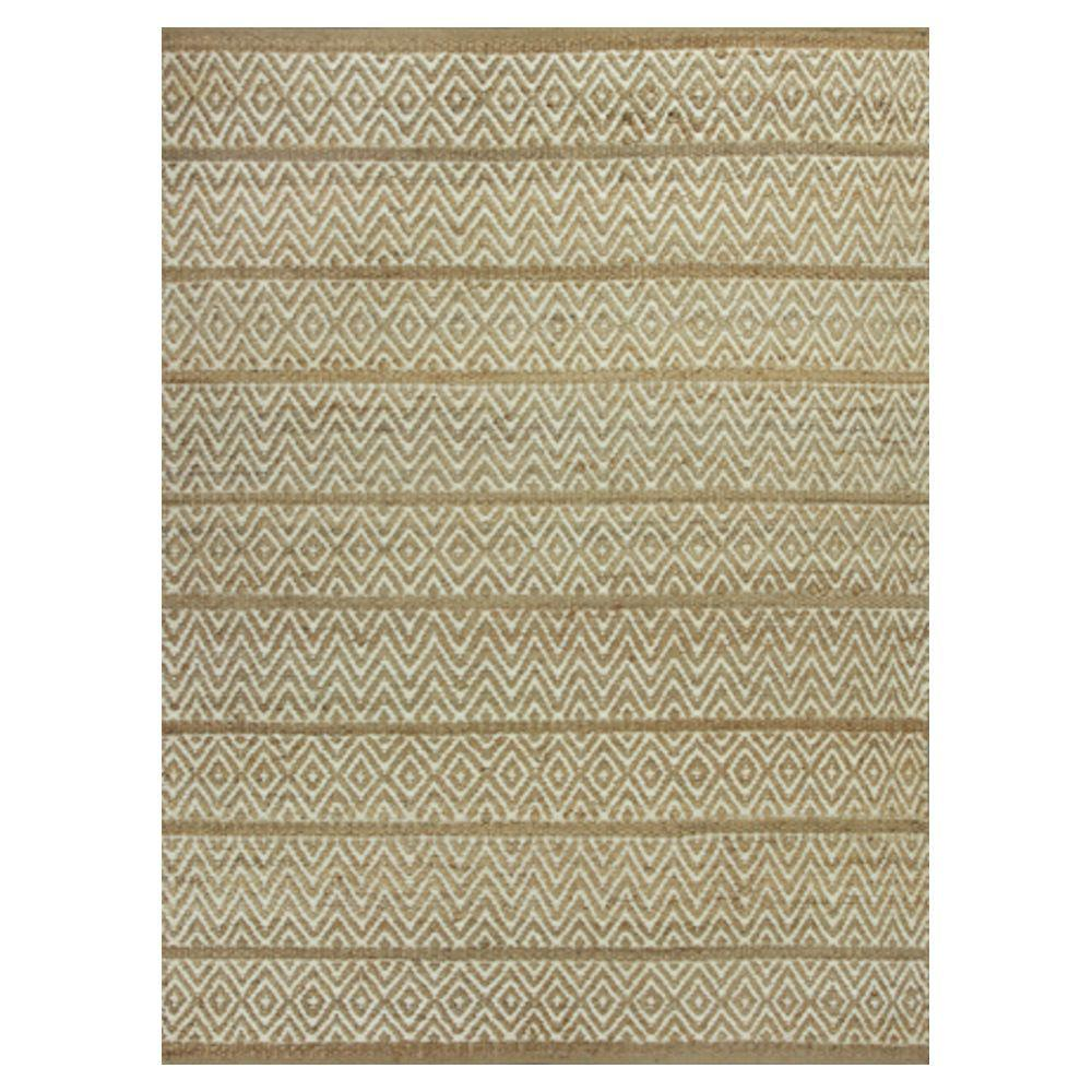 Kas Rugs Diamond Stripe Beige/Brown 8 ft. x 10 ft. Area Rug