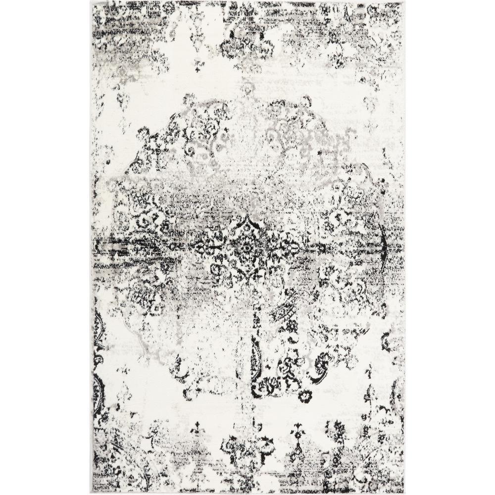 Boho Ivory/Gray 3 ft. x 5 ft. Indoor Area Rug
