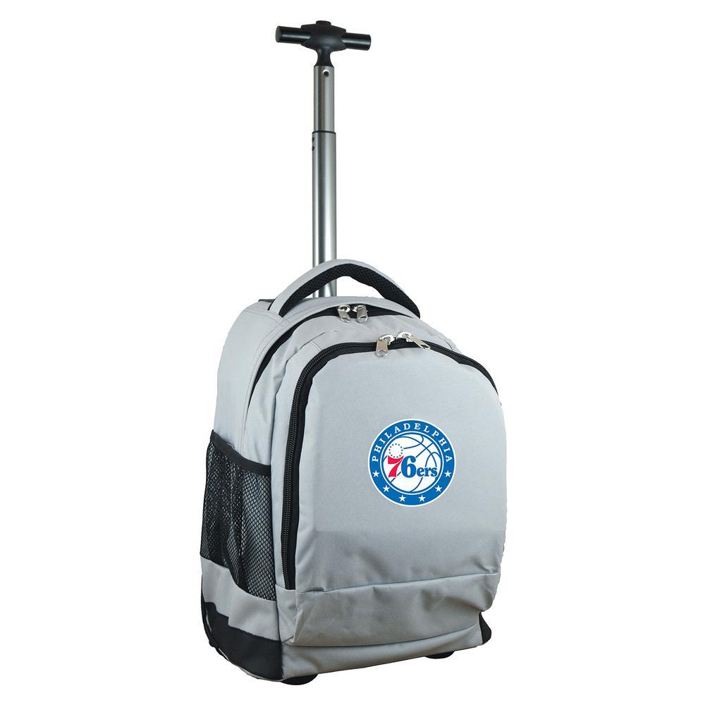 NBA Philadelphia 76ers 19 in. Gray Wheeled Premium Backpack