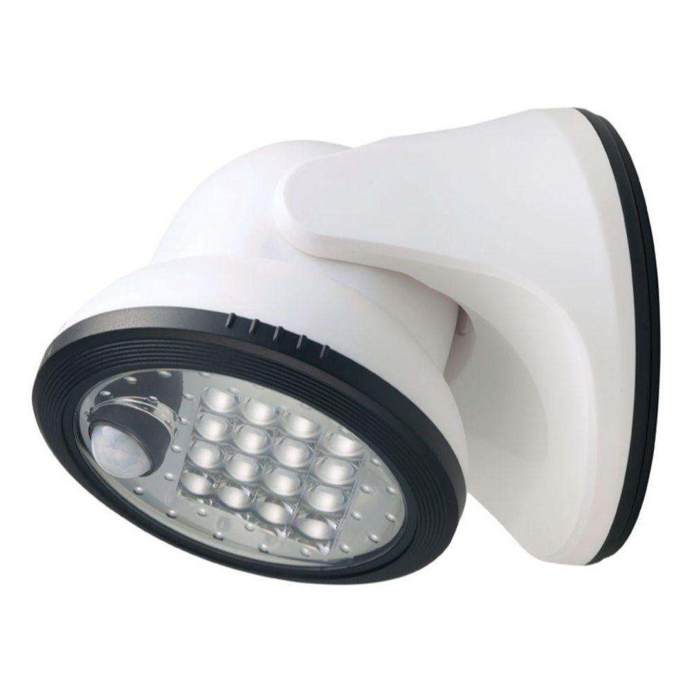 Light IT Motion-Sensing Battery Powered White Porch Light