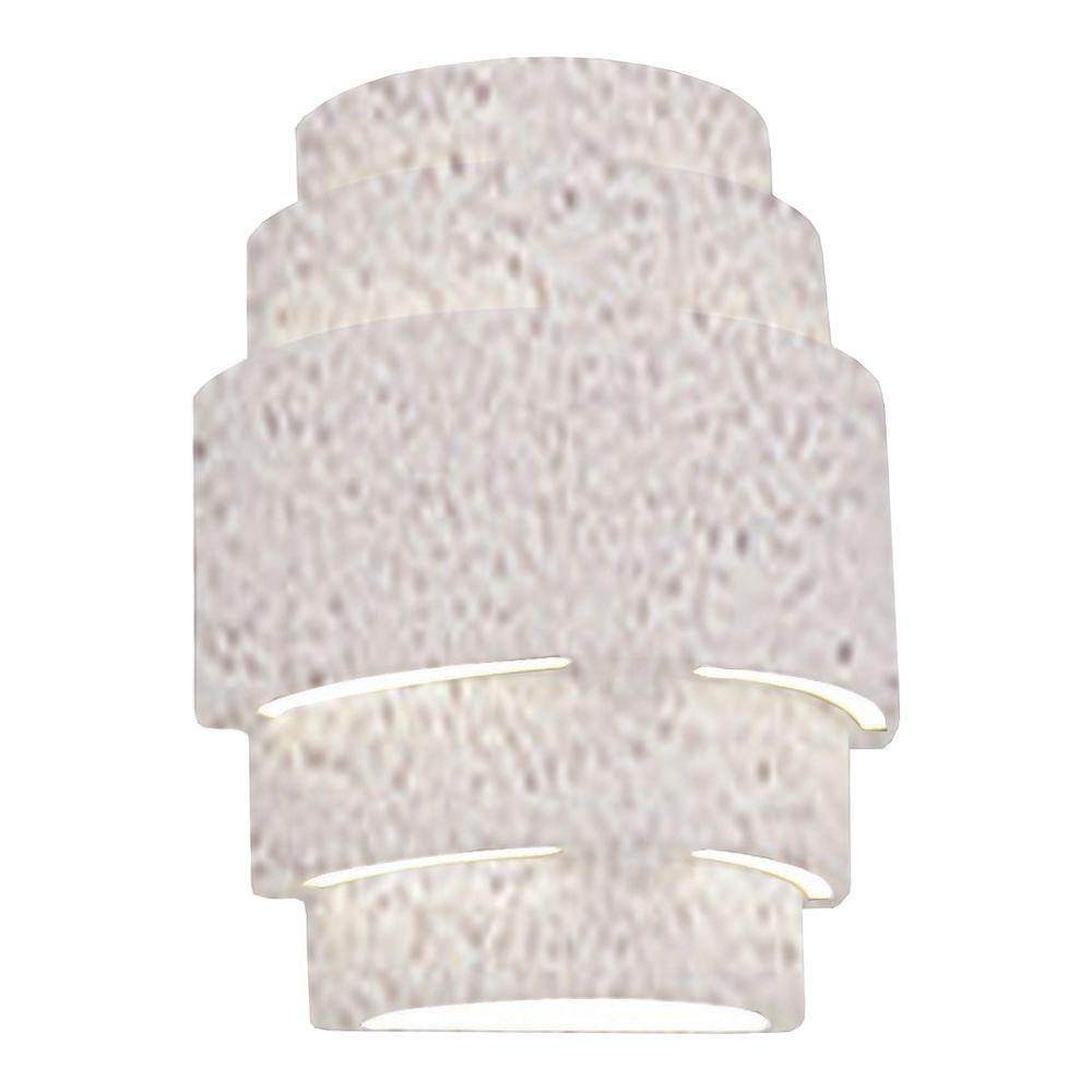 Clifton Outdoor Textured Bisque Ceramic Wall Sconce