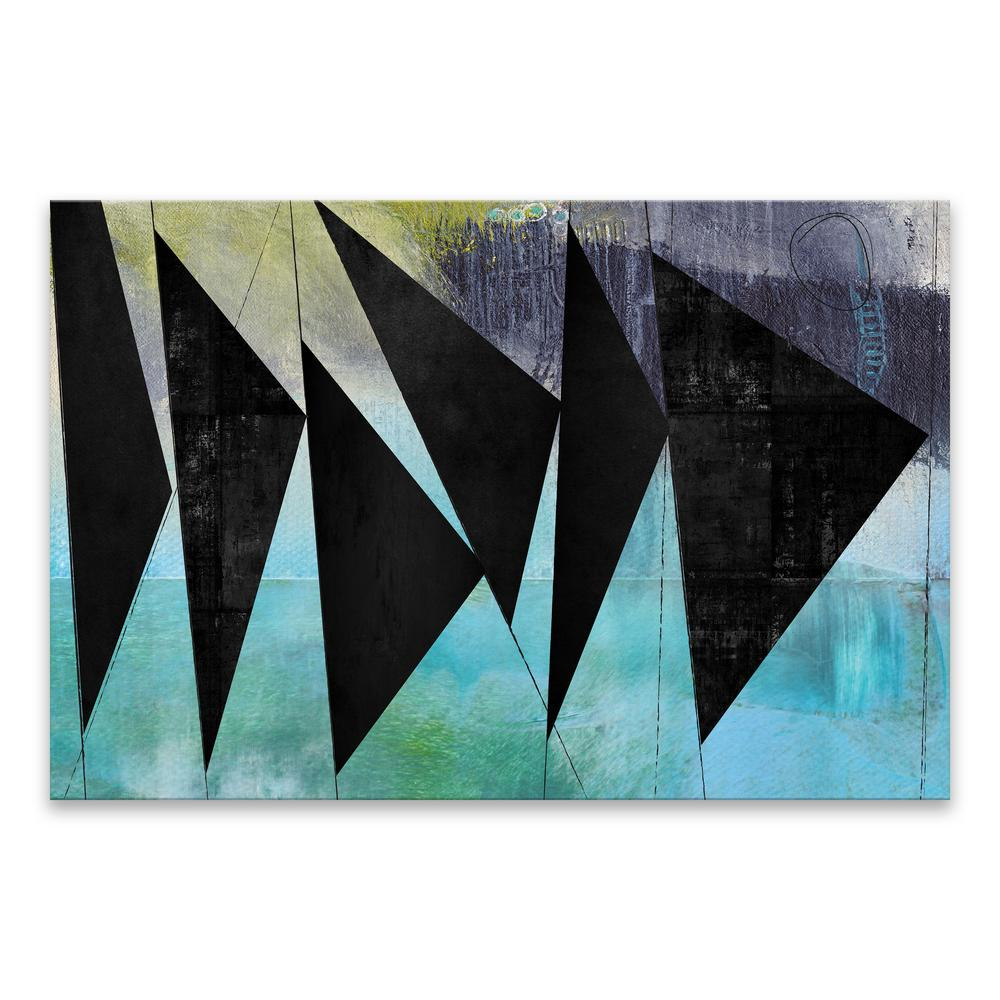 artissimo designs 40 in x 30 in angles by nikki chu high gloss
