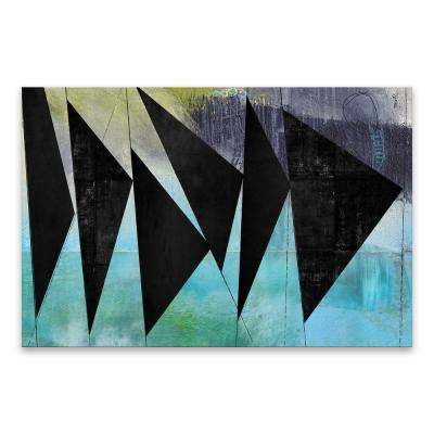 "40 in. x 30 in. ""Angles"" by Nikki Chu High Gloss Coated Printed Canvas Wall Art"