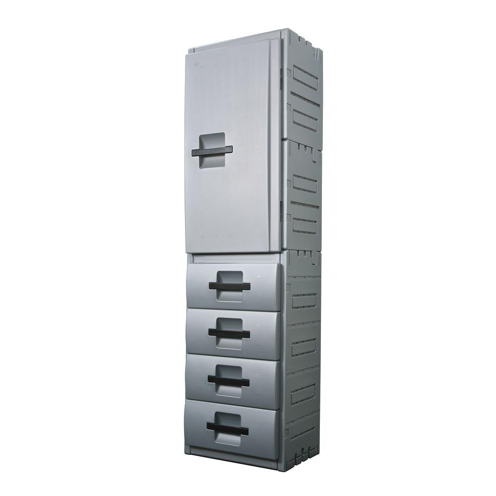 Inter-LOK Storage Systems 23 in. Wide 4 Drawer Cabinet-DISCONTINUED