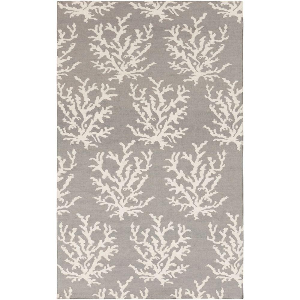 Surya Somerset Bay Light Gray 2 ft. x 3 ft. Flatweave Accent Rug