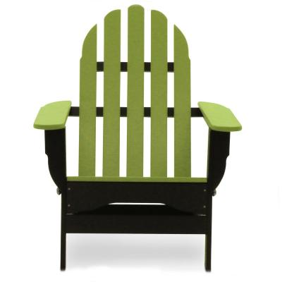 Icon Black and Lime Plastic Folding Adirondack Chair