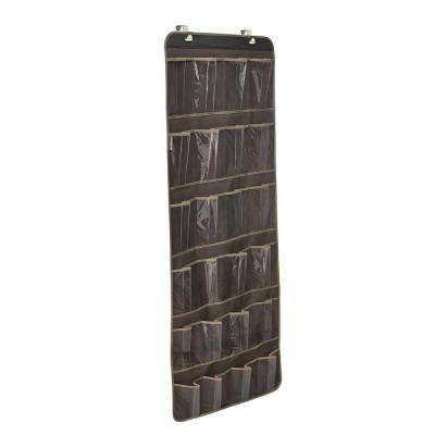 24-Pocket Over-the-Door Shoe Organizer in Gray