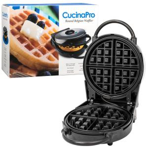 Cucinapro Classic Round Belgian Waffle Maker In Black 1476 The