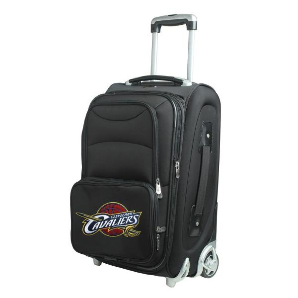 Denco NBA Cleveland Cavaliers 21 in. Black Carry-On Rolling Softside Suitcase
