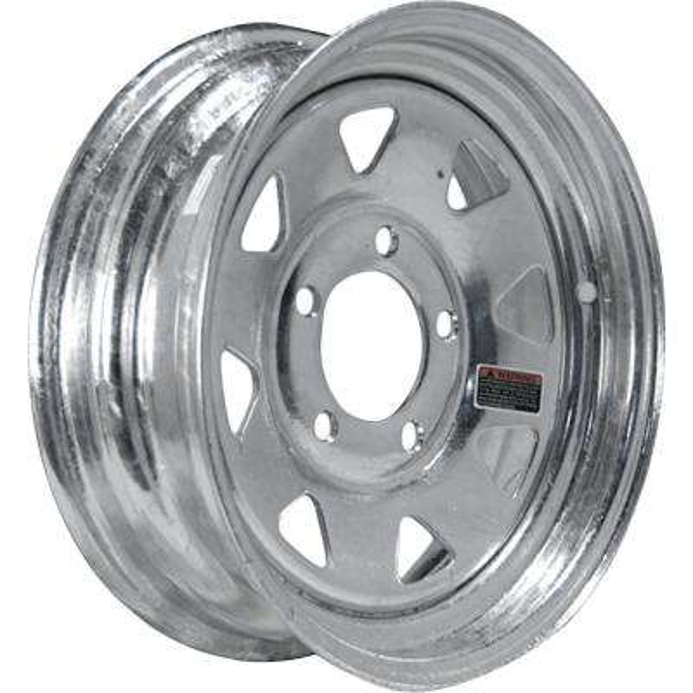 2040 lb. Load Capacity Galvanized Eight Spoke Steel Wheel Rim