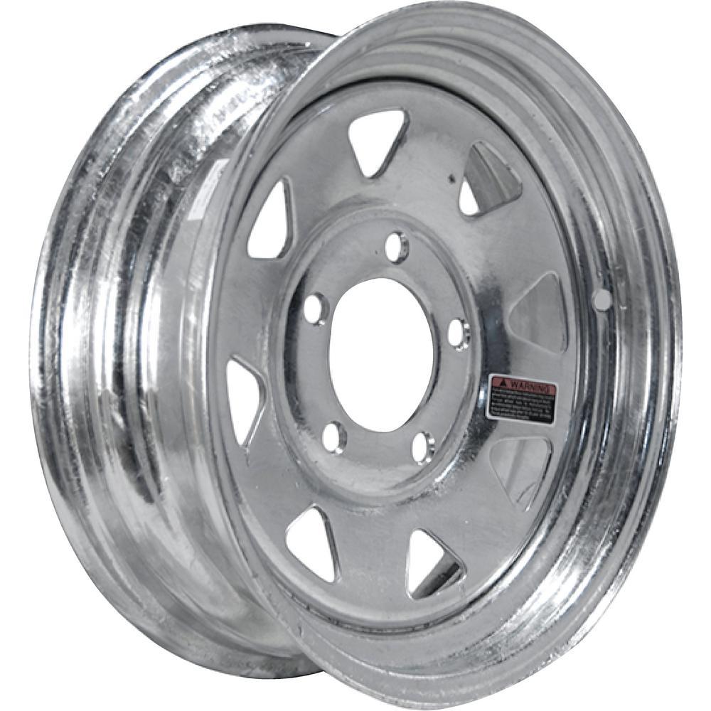 2150 lb. Load Capacity Galvanized Eight Spoke Steel Wheel Rim