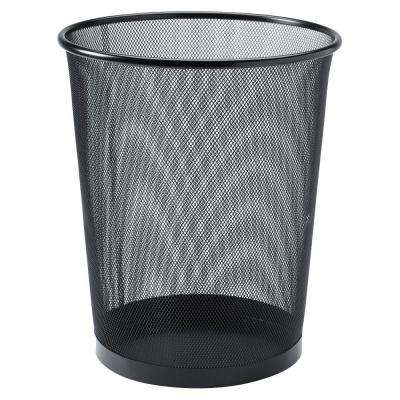 4 7 Oz Black Round Steel Mesh Trash Can