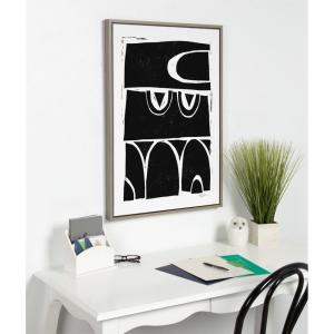 "Sylvie ""Modern Structured Arches"" by Statement Goods Framed Canvas Wall Art"