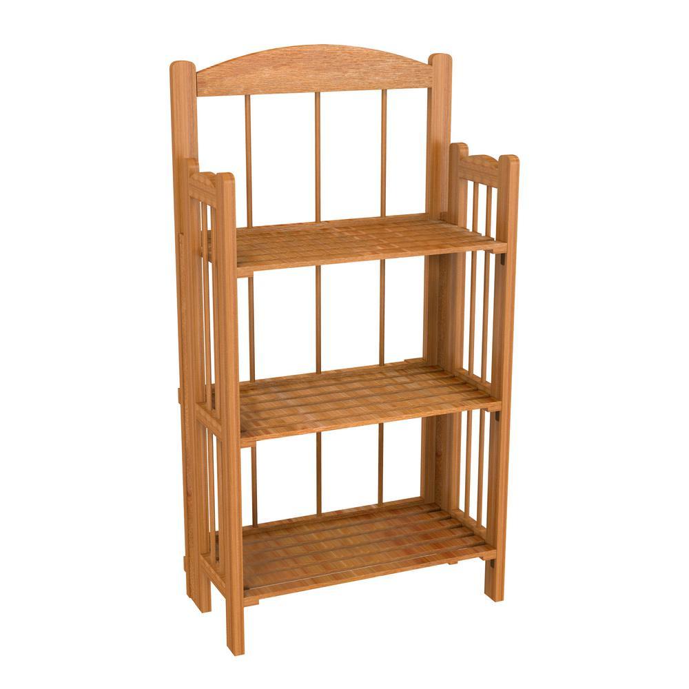 3-Tier Cedar Wooden Shelf Bookcase