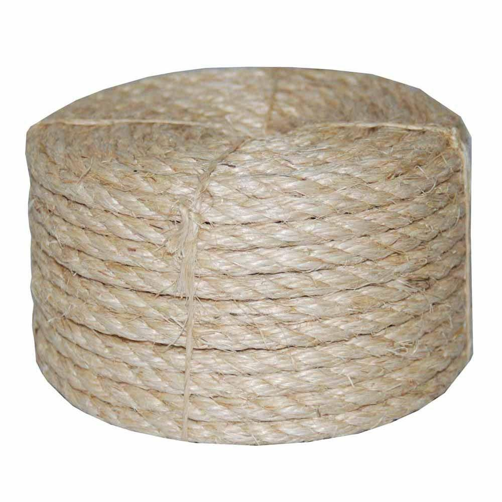 T.W. Evans Cordage 3/8 in. x 100 ft. Twisted Sisal Rope