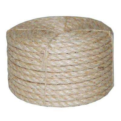 3/8 in. x 50 ft. Twisted Sisal Rope