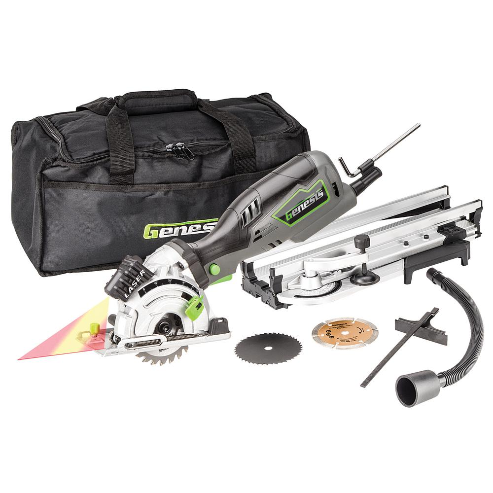 3-1/2 in. Plunge Compact Circular Saw Kit with Laser
