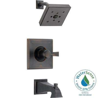 Dryden 1-Handle 1-Spray Tub and Shower Faucet Trim Kit in Venetian Bronze w/H2Okinetic Technology (Valve Not Included)